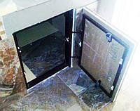 Потайной люк скрытого монтажа под плитку 300х600 мм (30х60 см)