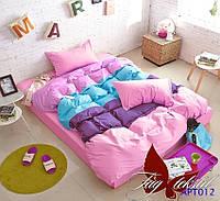 Постельное белье двуспальное разноцветное Color mix APT012