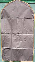 Чехол для хранения одежды GRANCHIO плащевка серого цвета. Размер 60х110 cм, фото 3