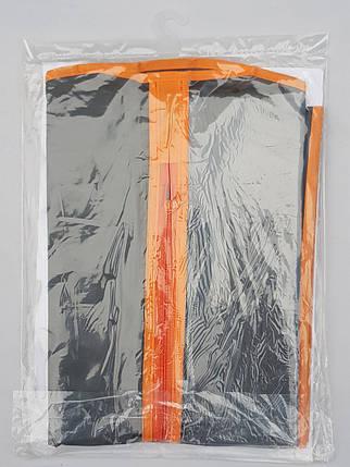 Чехол для хранения одежды GRANCHIO плащевка серого цвета. Размер 60х110 cм, фото 2