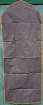 Чехол для хранения одежды GRANCHIO плащевка серого цвета. Размер 60х150 cм, фото 3