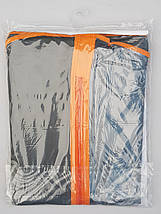 Чохол для зберігання одягу з розширенням GRANCHIO плащівка сірого кольору. Розмір 60х150х10 см, фото 2