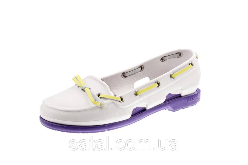 Женские Crocs Beach Boat Shoes Ladies (white)
