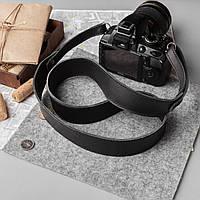Кожаный ремень для фотоаппарата, черный