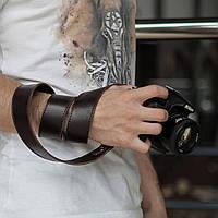 Кожаный ремень для фотоаппарата, коричневый