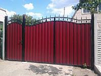 Ворота кованые с калиткой