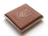 Портсигар металлический с гербом Украины LN1 SKU0000913