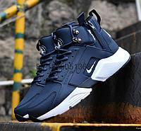 Мужские утепленные кроссовки Nike Huarache Acronym Concept Navy/White, топ реплика
