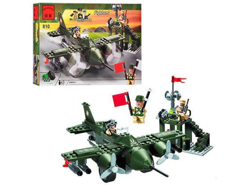 """Конструктор Brick 810 """"Военный самолёт"""" 255 деталей"""