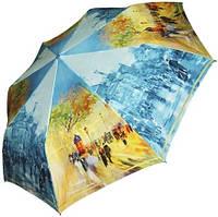 Женский зонт с ярким рисунком, автоматический ZEST Z23945-19 Антиветер