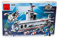 """Конструктор Brick 816 """"Подводная лодка"""" 382 детали, фото 1"""