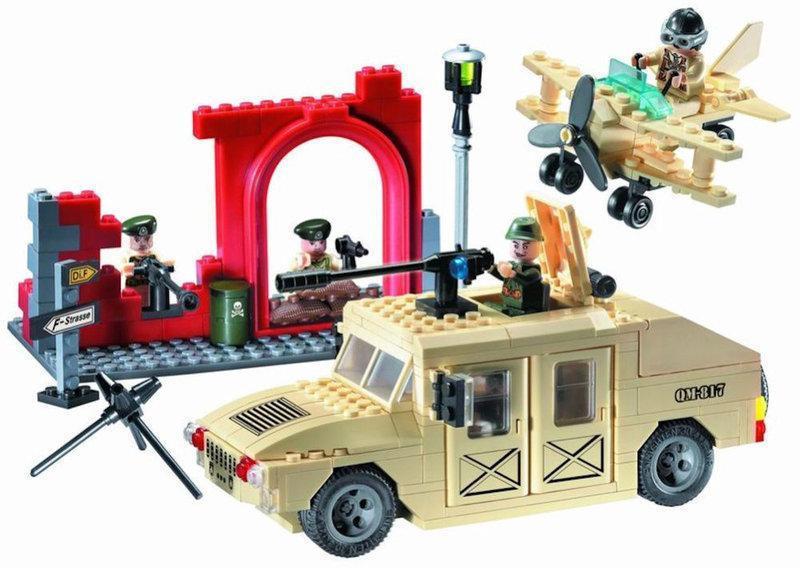 """Конструктор Brick 817 """"Военный Хаммер"""" 323 детали"""