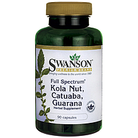 Swanson Premium Full-Spectrum Kola Nut, Catuaba, Guarana   по 225 мг 90 капс