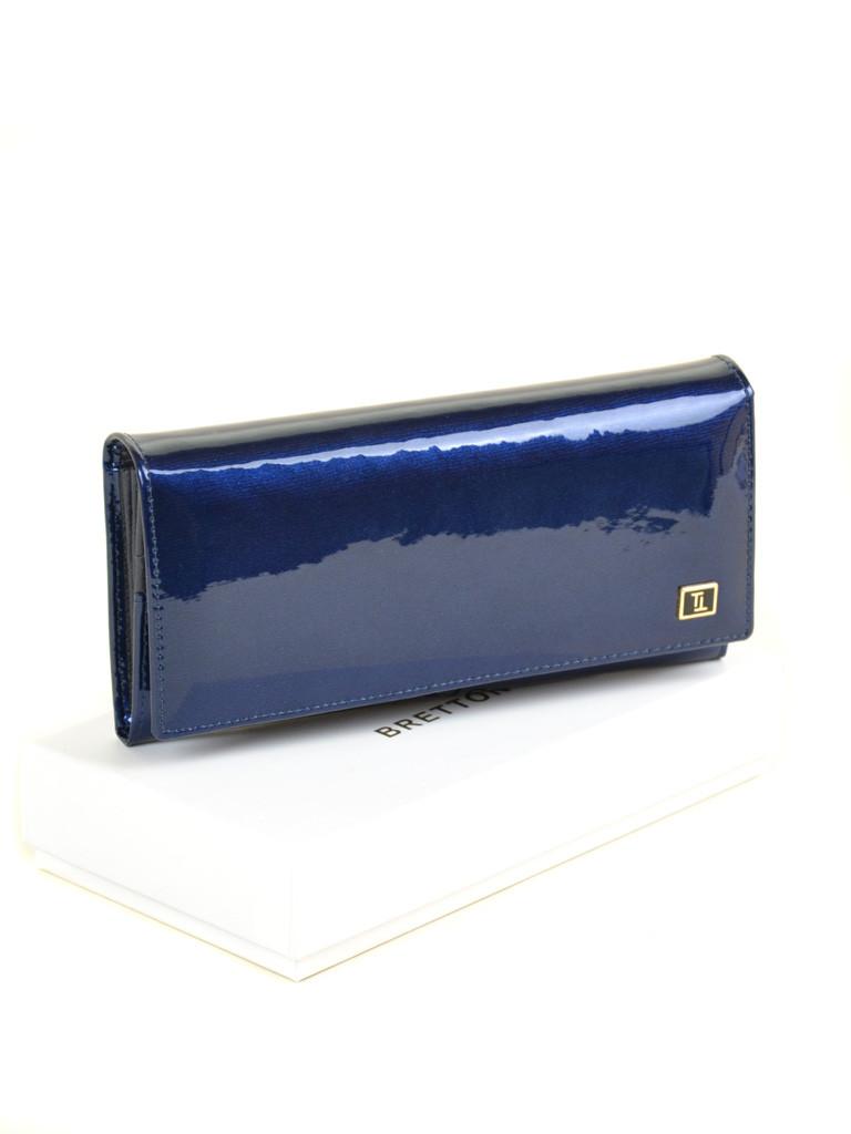 Женский кожаный лаковый кошелек Gold Bretton опт розница