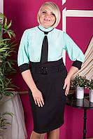 Женское платье больших размеров в офисном стиле, цвета в ассортименте