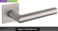 Дверная ручка  Tupai  4002 Q 5S никель кварцованый
