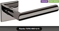 Дверная ручка  Tupai  4002 Q 5S никель черный