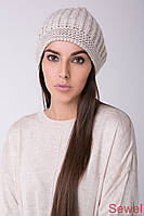 Женская зимняя шапка вязаная, фото 1
