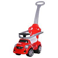 Машинка - толокар FD-6812 с родительской ручкой, поворотные колеса, красная