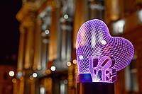 "3D светильник ""Сердце LOVE"" 3DTOYSLAMP, фото 1"