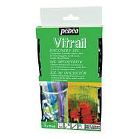 Набор витражных красок прозрачных Vitrail Pebeo 12 цв.х20 мл