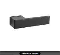 Дверная ручка Tupai 3084 RT H черная, вставка черный мат
