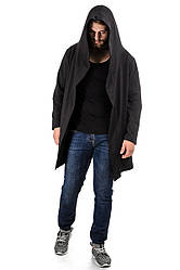Мантия мужская черная, Размеры: S, M, L, XL