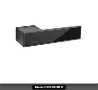 Дверная ручка Tupai 3084 RT H черная, вставка черный глянец