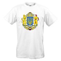 Футболка с большим гербом Украины
