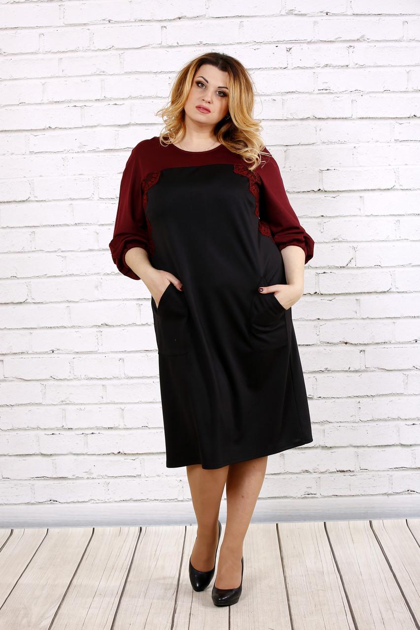 Черное с красным платье | 0677-2