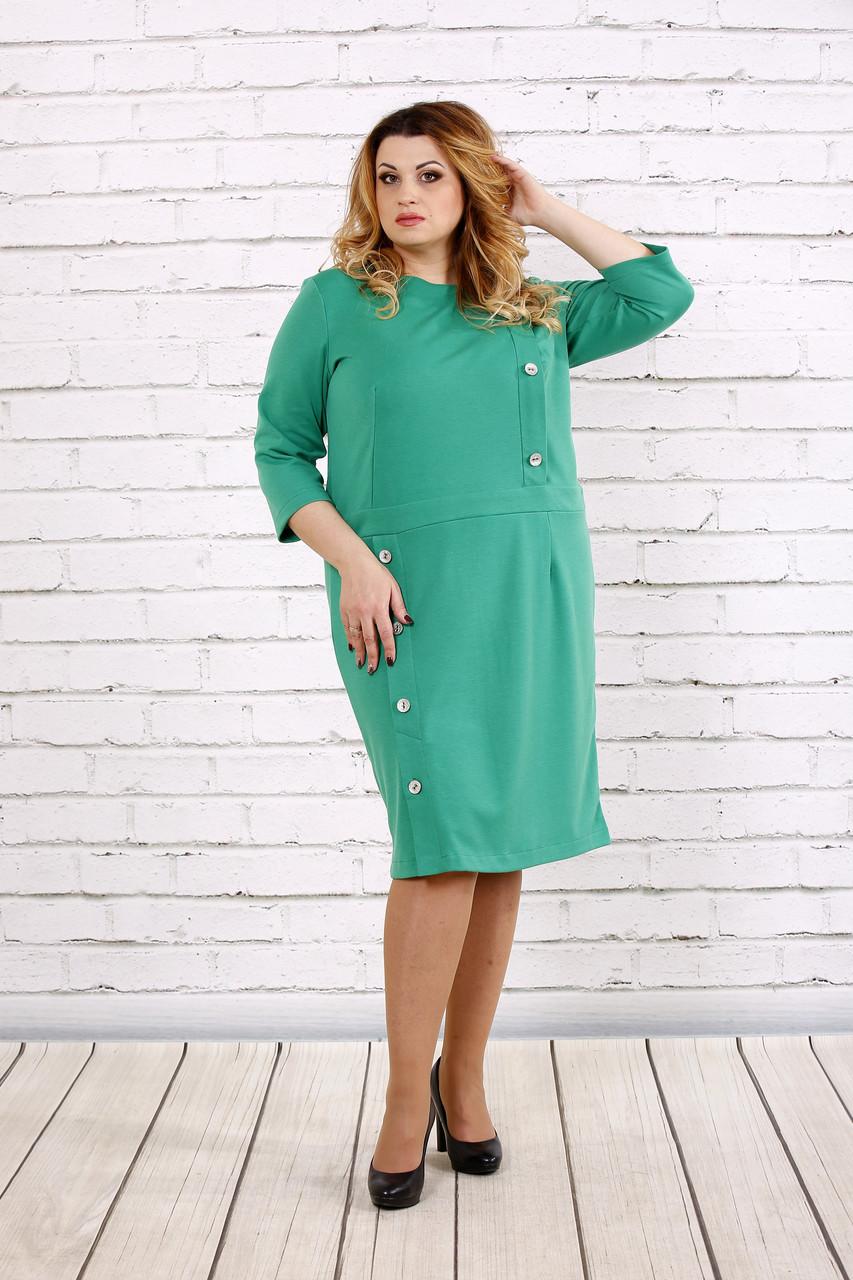 Платье зеленого цвета до колена | 0695-1