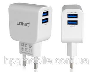 Сетевое зарядное устройство (СЗУ) - LDNIO DL-AC56 2 USB (2,1A)