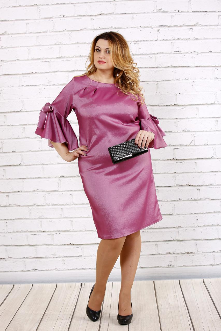 Шикарное платье цвета фрезия   0705-2