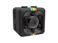 Мини камера SQ11 с ночной подсветкой, датчиком движения и углом обзора 140°  Черный