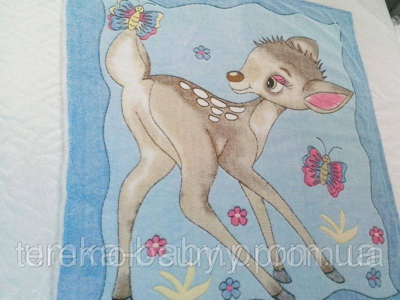 Детское махровое плед-одеяло бемби