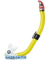 Трубка с двумя клапанами AquaLung Buran; жёлтая