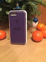 Чехол Apple Silicone Case для iPhone 7 Plus, 8 Plus и в подарок ЗАЩИТНОЕ СТЕКЛО!!! ультрафиолет