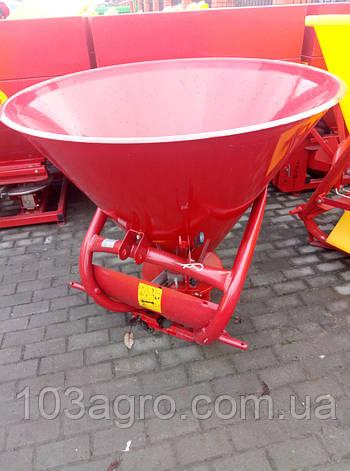 Розкидач мінеральних добрив JAR-MET 500 кг (ОРИГІНАЛЬНИЙ), фото 2