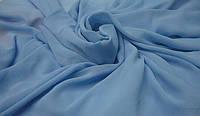 Шифон Однотонный (голубой) ткань