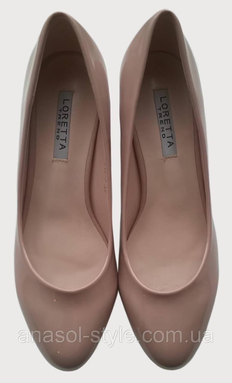 Туфли женские лаковые LORETTA бежевые