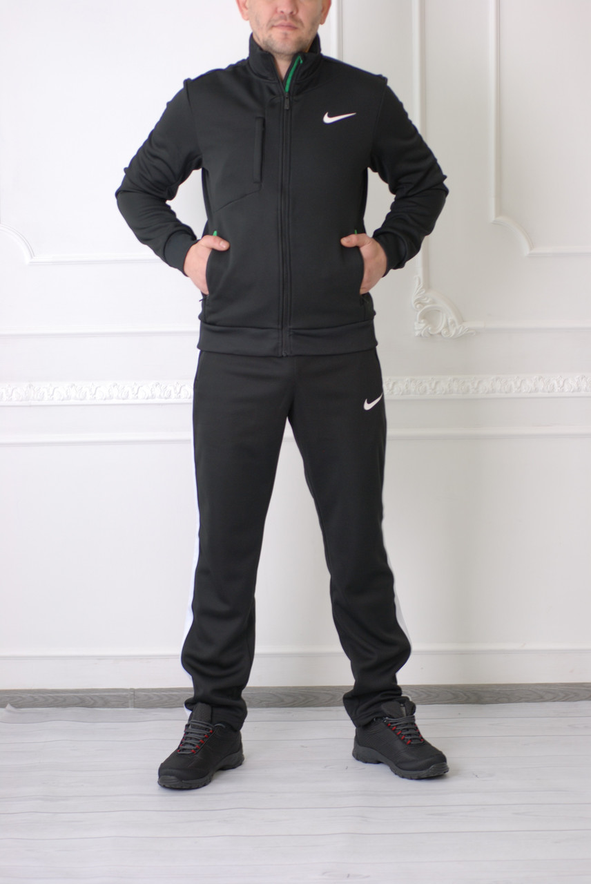 80268af1 Мужской спортивный костюм Nike (реплика) 325641 черный осенний код 336б -  СПОРТ-СИТИ