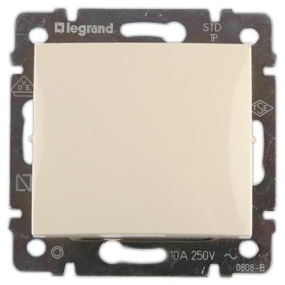 Выключатель 1 кл. Слоновая кость 774301 Legrand Valena