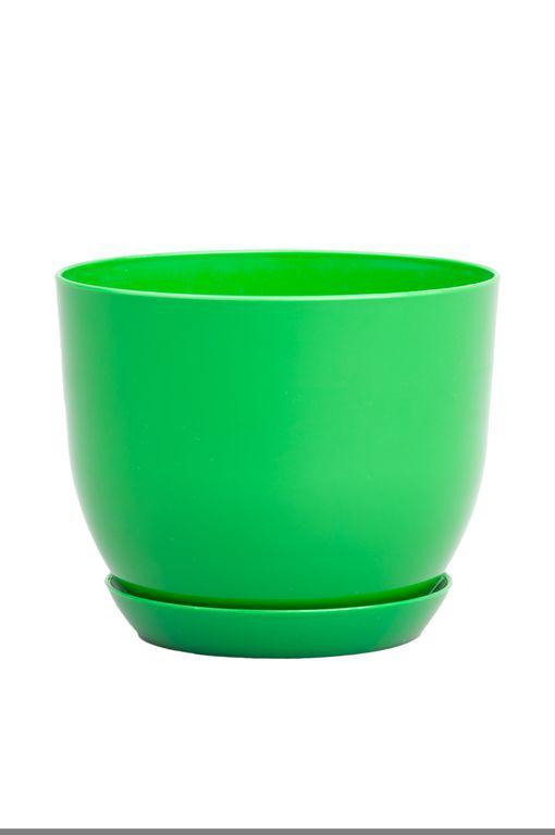 Горшок классик для растений Зеленый 13 см