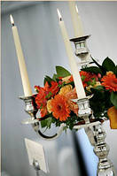 Свадебный декор: свечи и подсвечники