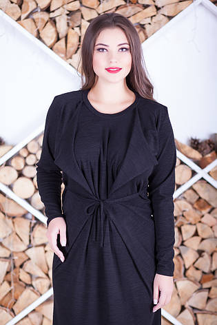 Стильне плаття великих розмірів з трикотажу, фото 2
