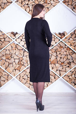 Стильное платье больших размеров из трикотажа, фото 2
