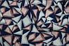 Ткань креп шифон-бабл, треугольнички розовый