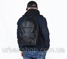 Рюкзак Harvest Tipoleather black чорний перфорована кишеня.