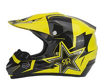 Кроссовый мото шлем Fox RockStar Dot сертифицированный