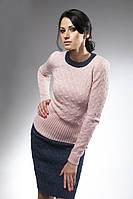 Женский вязанный комплект джемпер и юбка